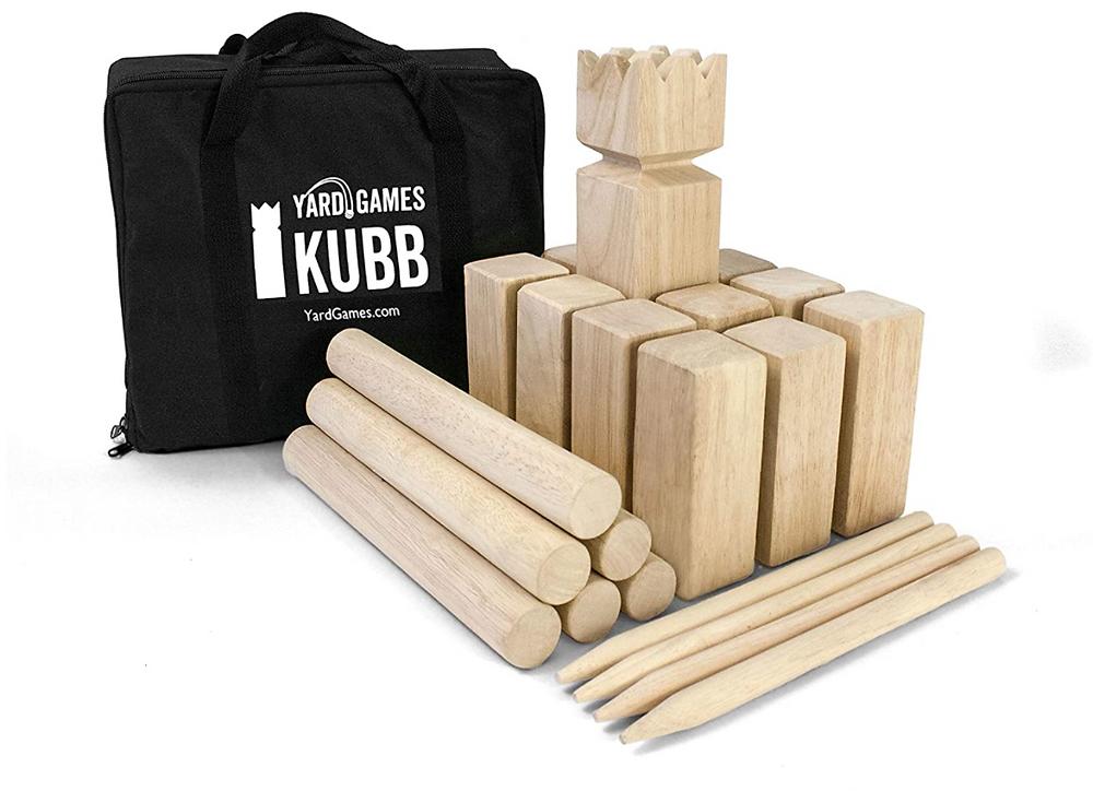 Kubb yard game.