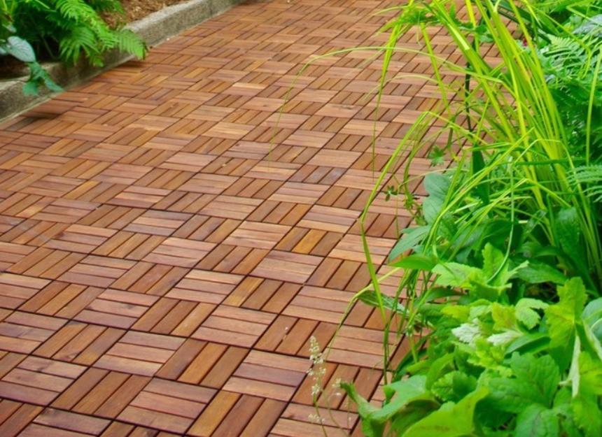 Ikea decking tiles backyard garden patio