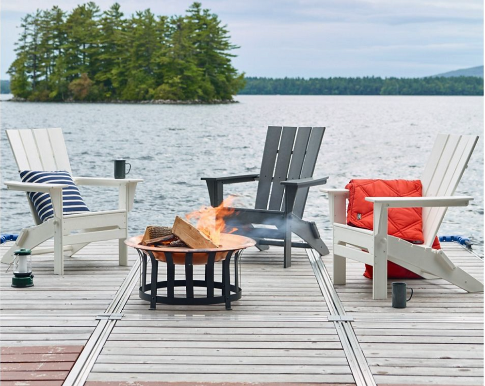polywood adirondack chairs from L.L.Bean.