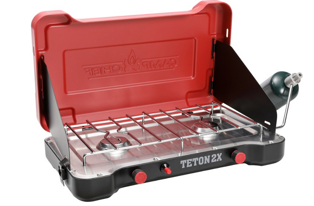 Teton 2-burner camp stove by Camp Chef available from REI.