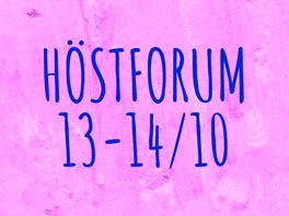 Höstforum 13-14 oktober