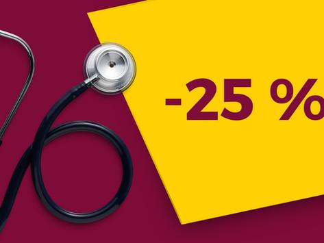 Uvítací sleva 25 % pro zdravotnický personál - rekonstruovaný PONT to go Praha VFN