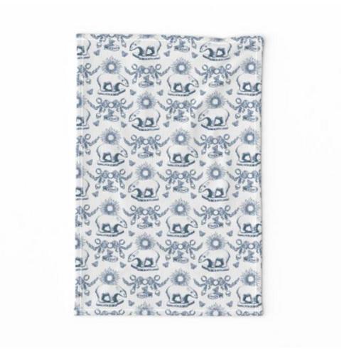Bears & Ruins Linen Tea Towel