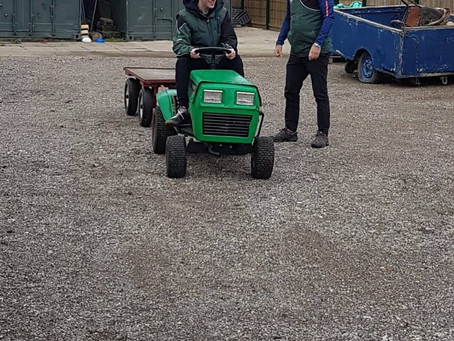 Canterbury Archers has a tractor!!