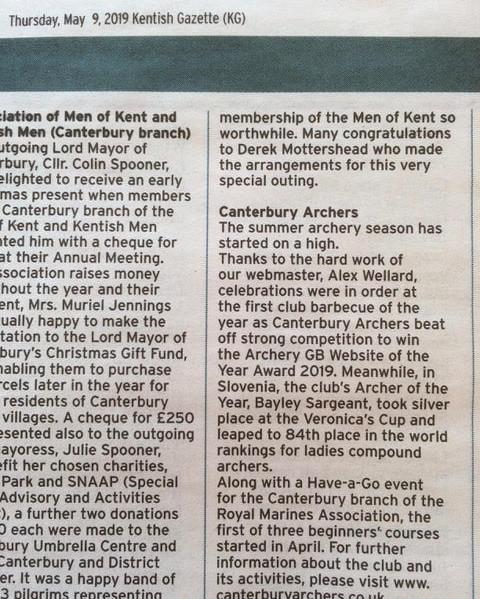 Canterbury Archers Lord Mayor