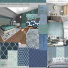 sypialnia w odcieniach turkusu