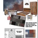 sypialnia z elementami industrialnymi