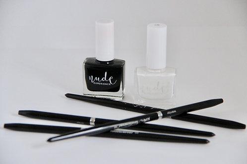 Kit de base pour nail art ⚪️ ⚫️