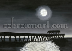 Tybee Pier on Moonlite Night