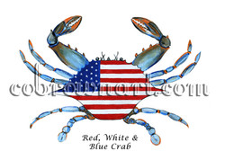 Red, White and Blue Crab