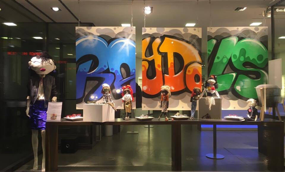 YANA RAY and RAMSTEIN created together  a colorful window for its Optik store in old town Basel !