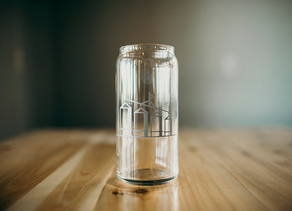 Four Silos Beer Can Glassware 20 oz.