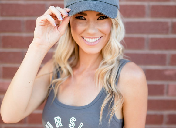 Four Silos Cap - Gray with White (PRE-ORDER)
