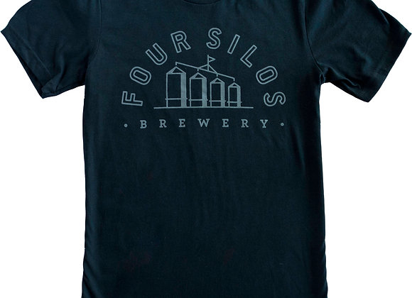 Four Silos Brewery - Jersey Unisex - Black