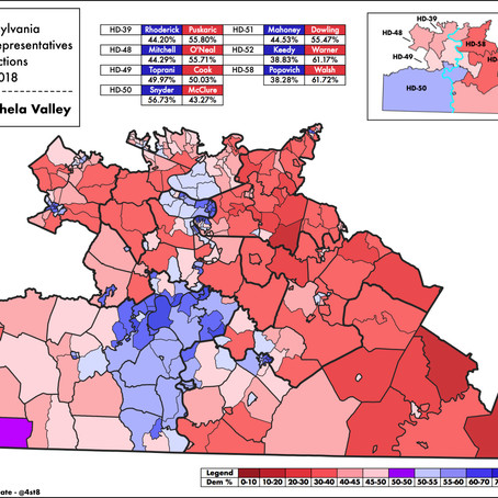 2018 PA State House Elections in the Monongahela Valley