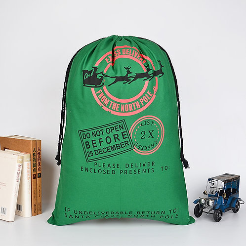 Christmas Gift Sack - Green