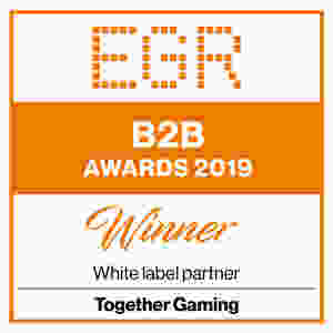 "Together Gaming winner of ""White label partner"" category EGR B2B Awards 2019"