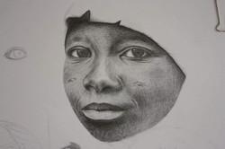 Femme au crayon