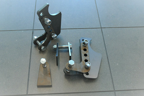 VERTICAL 8 MM COIL OVER ADJUSTABLE MOUNTING BRACKET KIT