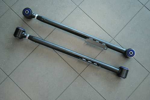 LH-LX ADJUSTABLE TUBULAR LOWER TRAILING ARMS WITH SWAY BAR MOUNT