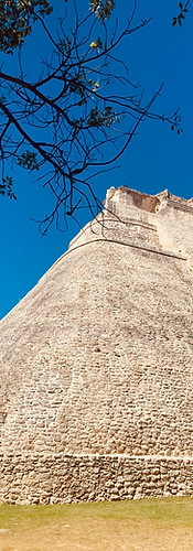 Mayan architecture in Uxmal, Mexico