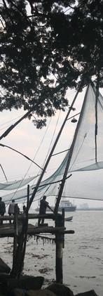 Chinese fishing nets at Kochi, India