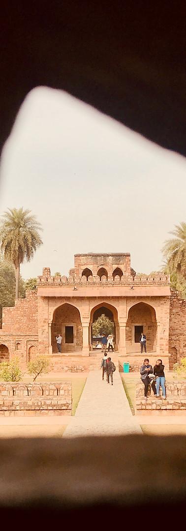Tomb of Isa Khan in Delhi, India