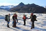 On the route to Esjufjöll mountains in Vatnajökull