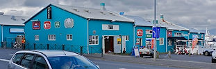 The Cinema is in the first blue house at the Old Harbour down town Reykjavik
