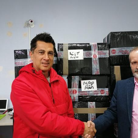 Más de 100 kilos de medicamentos salen de Málaga para Venezuela