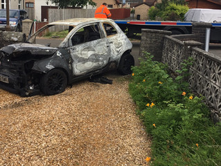 Arson attack on car