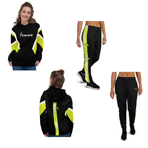 "Incredibooty™ ""Femme"" Athletic Sweatsuit Matching Set"