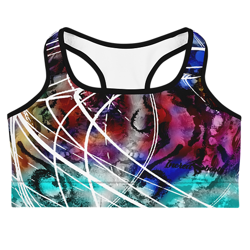 "Incredibooty™ ""Blue Flame"" Athletic Sports Bra"
