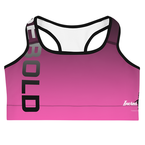 "Incredibooty™ ""Boldly Beautiful"" Athletic Sports Bra"