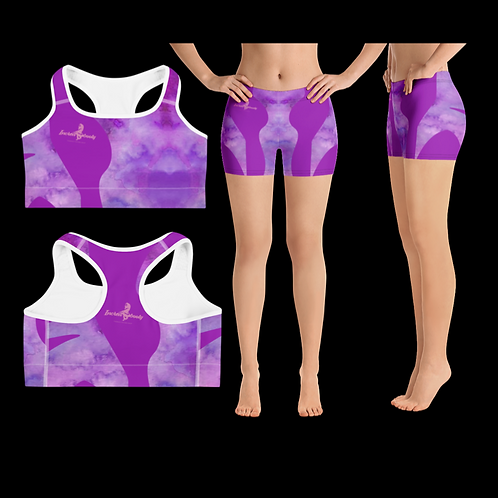 "Incredibooty™ ""Purple Magic"" Premium 2pc Short Set"