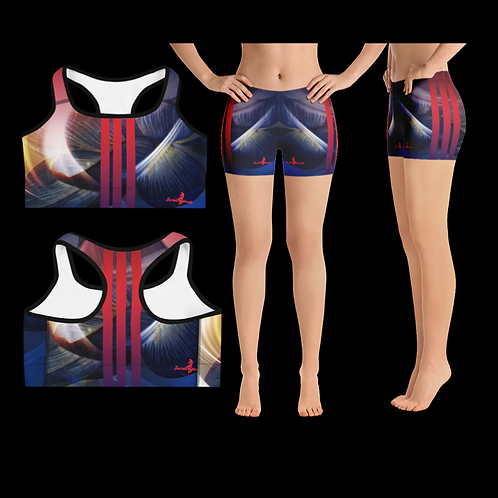"Incredibooty™ ""Blue Fire"" Premium 2pc Short Set"