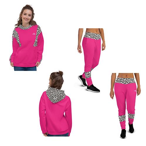 "Incredibooty™ ""Leopard Splash"" Athletic Sweatsuit Matching Set"