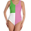 Thumbnail: Incredibooty™ One Piece Swimsuit| Chic Pink, Green & White