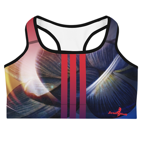"Incredibooty™ ""Blue Fire"" Athletic Sports Bra"