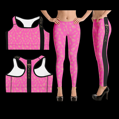 "Incredibooty™ ""Queen of the Game"" Premium 2pc Leggings Set"