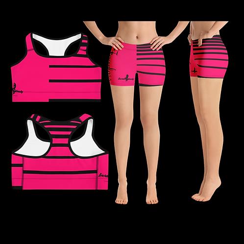 "Incredibooty™ ""Fearless Pink"" Premium 2pc Short Set"