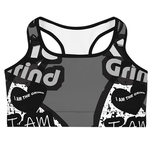 "Incredibooty™ ""I AM The Grind"" Athletic Sports Bra"
