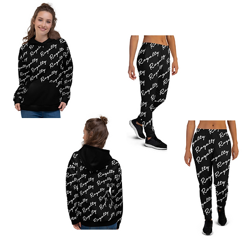 "Incredibooty™ ""Cursive Royalty"" Athletic Sweatsuit Matching Set"
