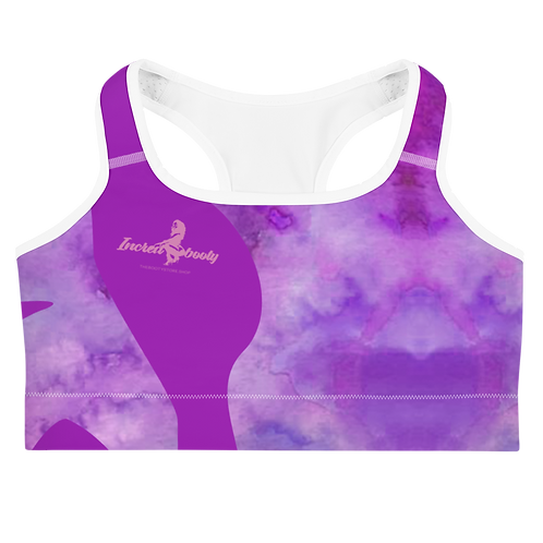 "Incredibooty™ ""Purple Magic"" Athletic Sports Bra"