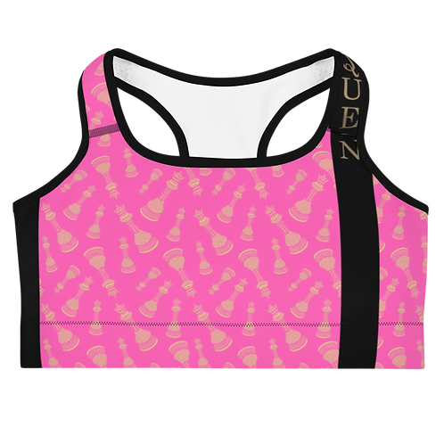 """Incredibooty™ """"Queen of the Game"""" Athletic Sports Bra"""