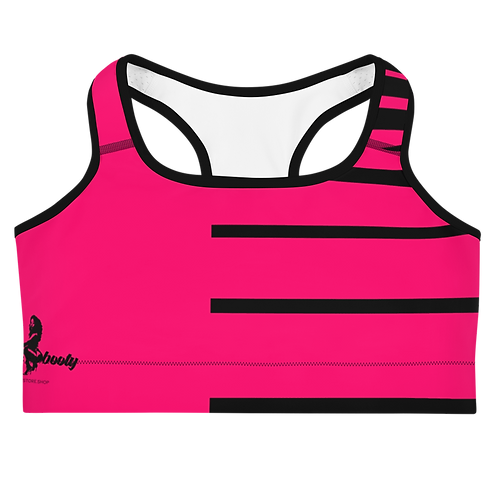 """Incredibooty™ """"Fearless Pink"""" Athletic Sports Bra"""
