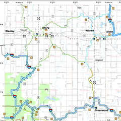 Clark County WI Snowmobile Map