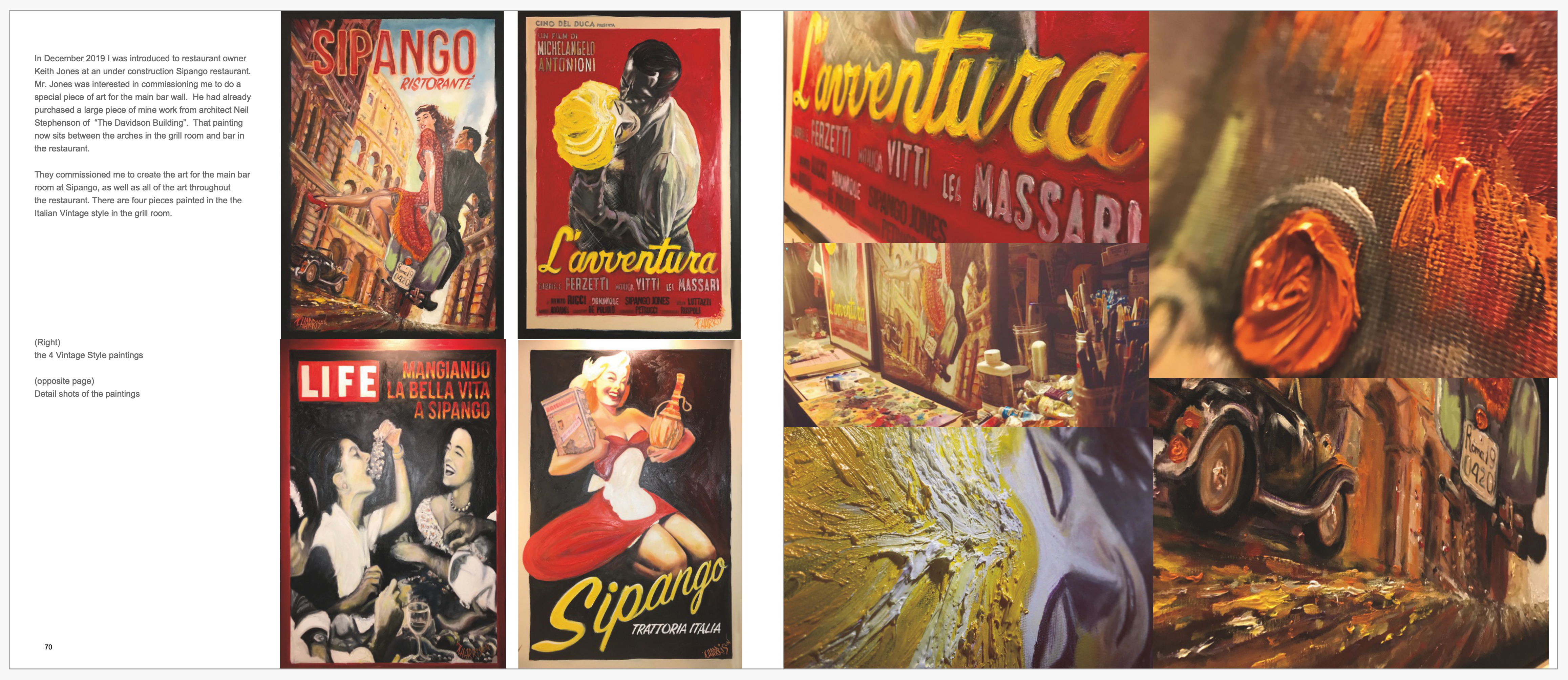 SIPANGO VINTAGE ITALIAN Paintings by Kev
