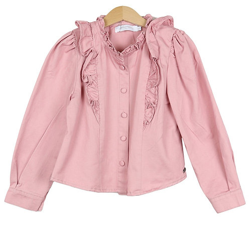 KIDS Ruffle blouse roze