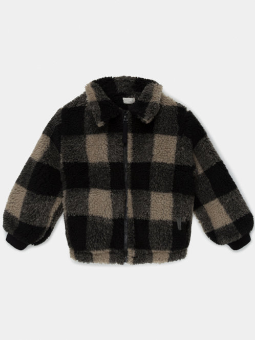 plaid kids jacket reclycled polyester - Multi